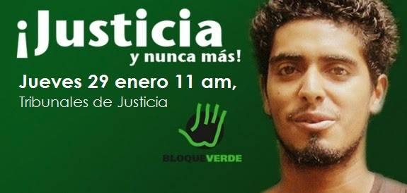 Protesta para exigir justicia para Jairo Mora Sandoval