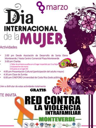 Dia internacional de la mujer monteverde
