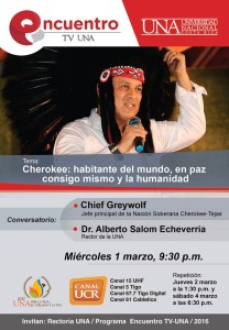 Encuentro TV UNA con Chief Greywolf