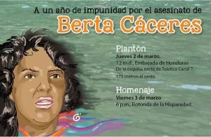 A un ano del asesinato de Berta Caceres fecon