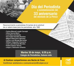 Dia del Periodista y conmemoracion