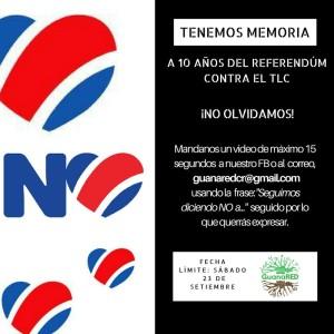GuanaRED conmemora decimo aniversario de Lucha contra el TLC
