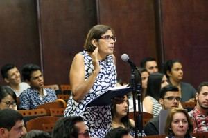 Debate Presidencial en la UNA Dra Sandra Lezcano