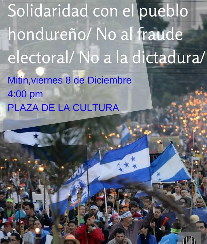 Mitin de Solidaridad con el Pueblo hondueno Costa Rica