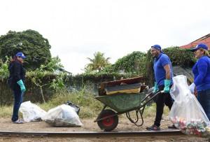 Fundacion UCR embellece y da seguridad a los alrededores de la linea del tren en San Pedro