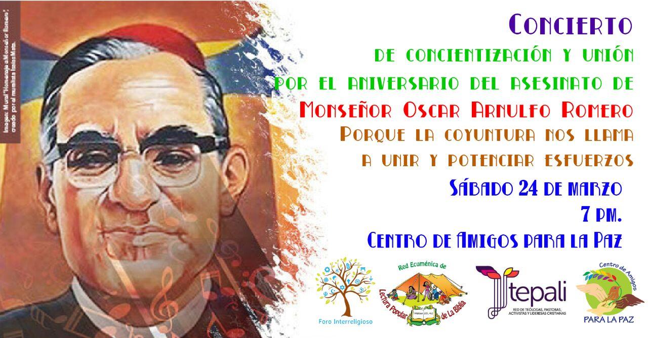 Concierto Aniversario asesinato Monsenor Oscar Arnulfo Romero