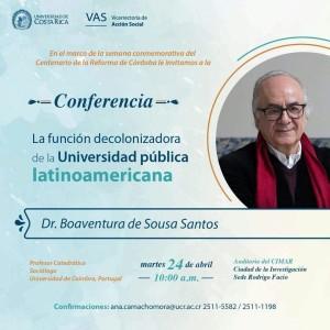 Conferencia La funcion decolonizadora de la Universidad publica latinoamericana