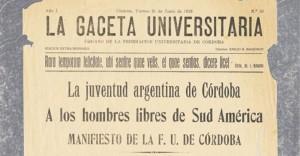 UCR celebra el centenario de la Reforma de Cordoba