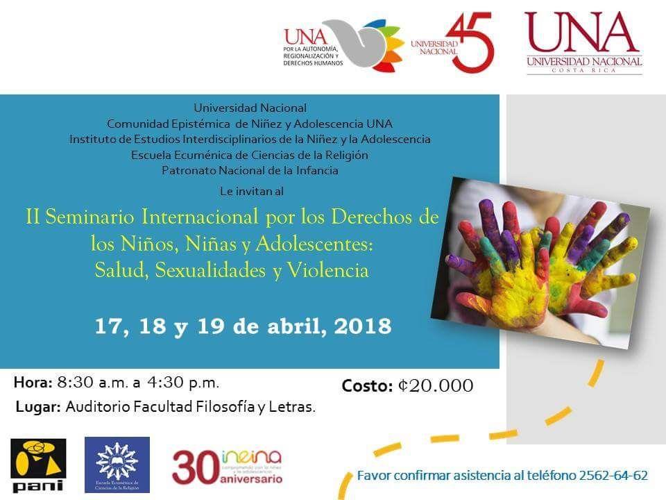 UNA II Seminario Internacional por los Derechos de los Ninos Ninas y Adolescentes