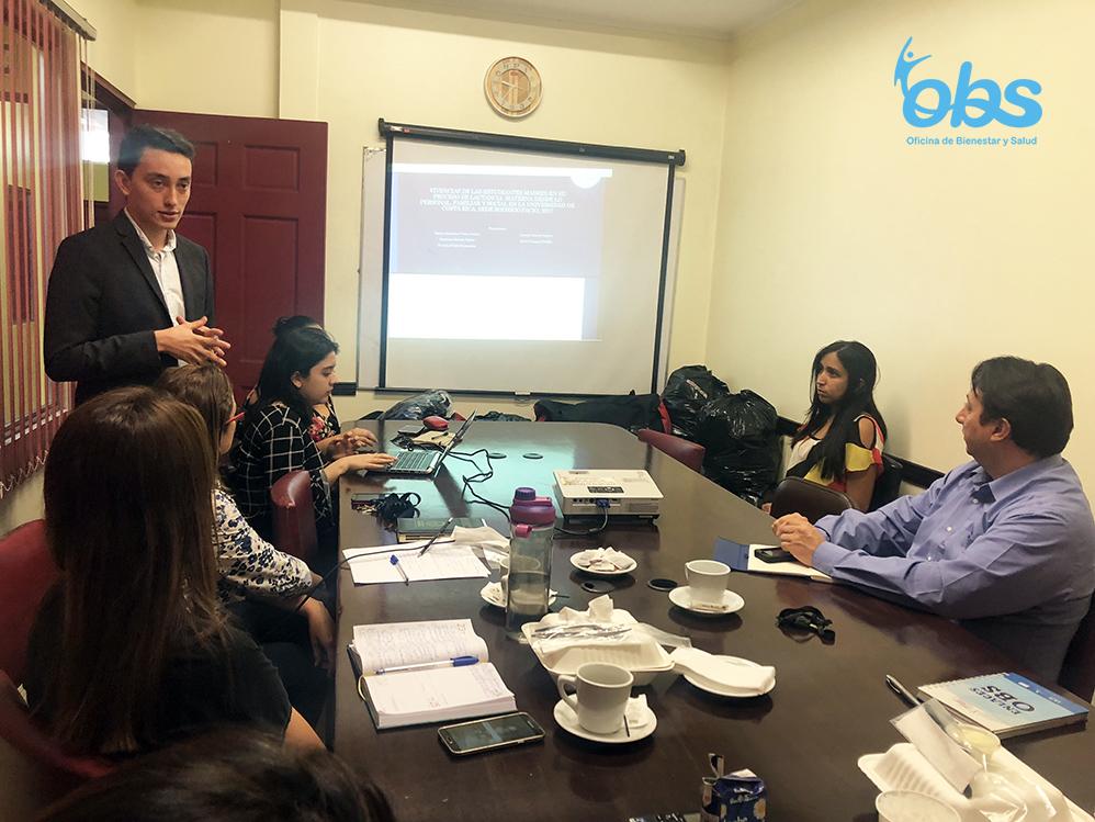 Los resultados del TFG fueron expuestos al personal del Consejo Asesor de la Oficina de Bienestar y Salud para que promueva el programa de lactancia materna. (Foto: Sonia Vargas Cordero).