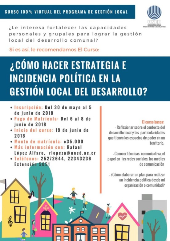 Curso Como hacer estrategia e incidencia politica en la gestion local del desarrollo