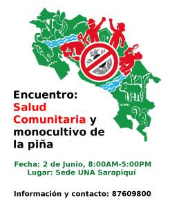 Encuentro Salud comunitaria y monocultivo de pina
