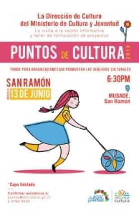 Sesion informativa y taller de formulacion de proyectos Puntos de Cultura 2018