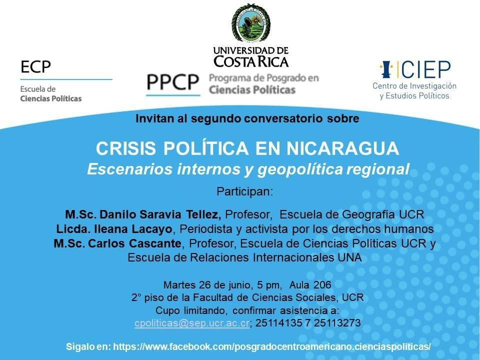 Crisis politica en Nicaragua Escenarios internos y geopolitica regional