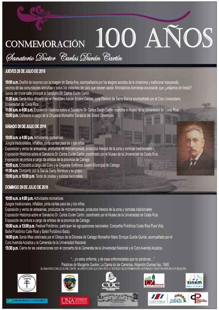Conmemoracion 100 anos Sanatorio Doctor Carlos Duran Cartin