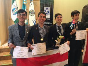 Costa Rica gana por segundo ano consecutivo medallas de Oro y de Plata en la Olimpiada Centroamericana y del Caribe de Quimica2