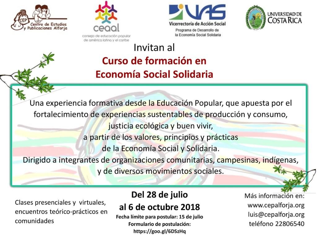 Curso de formacion en Economia Social Solidaria