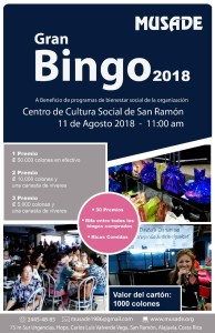 MUSADE Gran Bingo 2018