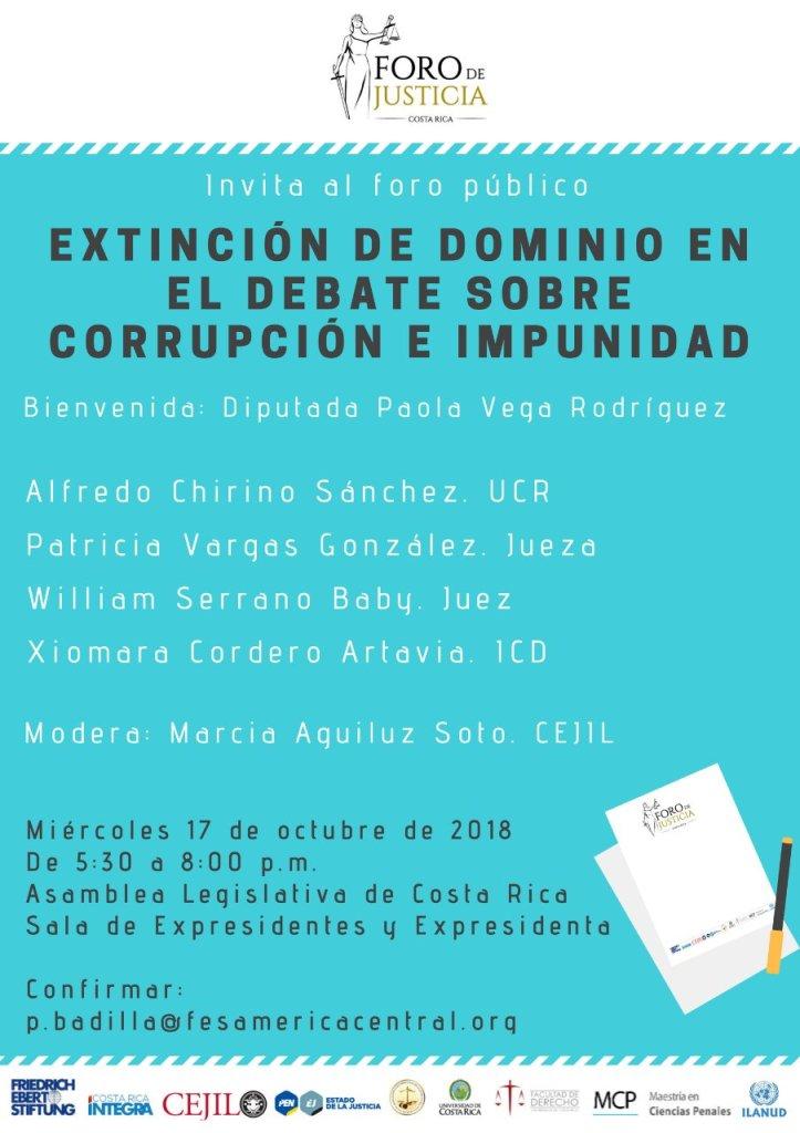 Foro Extincion de dominio en el debate sobre corrupcion e impunidad