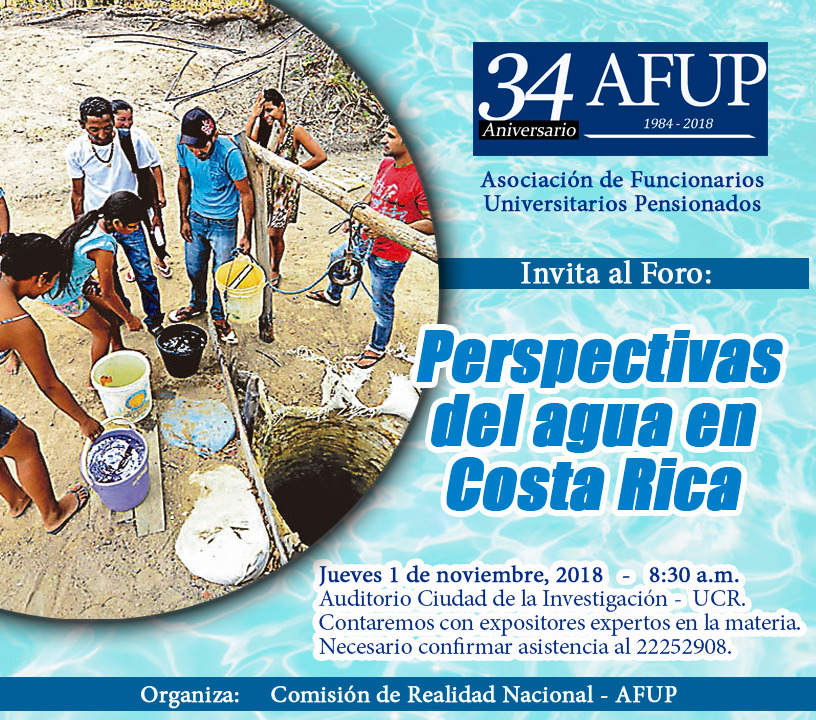 Foro Perspectivas del agua en Costa Rica
