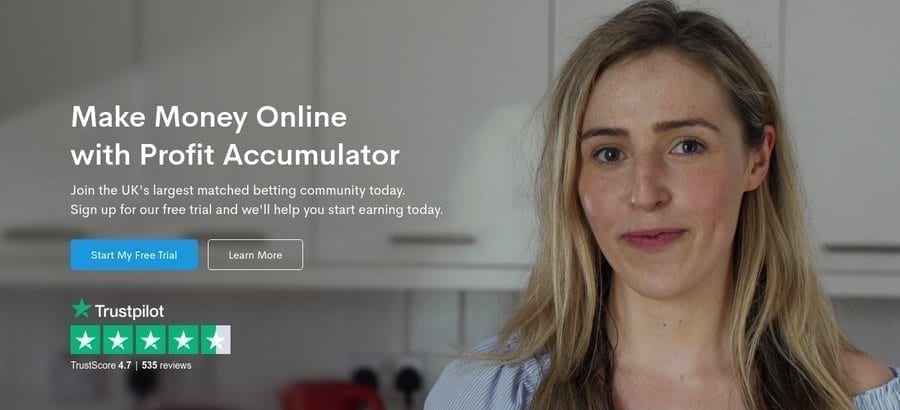 Profit Accumulator Matched Betting Online
