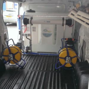 Inside of fitted van