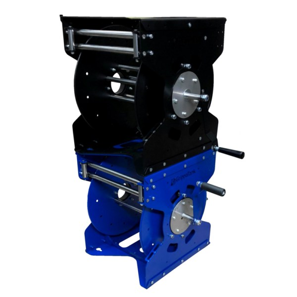 Stackable hose reels - blue & black options