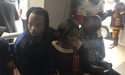 Naira Marley Pictured With Mum At Ikoyi High Court Today
