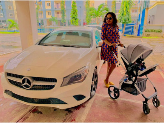 Toyin Abraham's Photo of Her Car and Baby is the Cutest Pic on Social Media Today