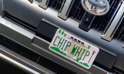 FRSC Disowns 'Chip Whip' Number Plate
