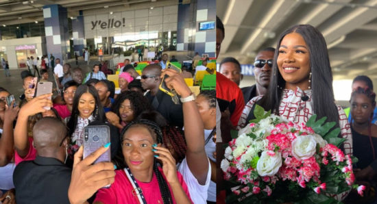 Watch video from Tacha's visit to Ghana | Her Arrival