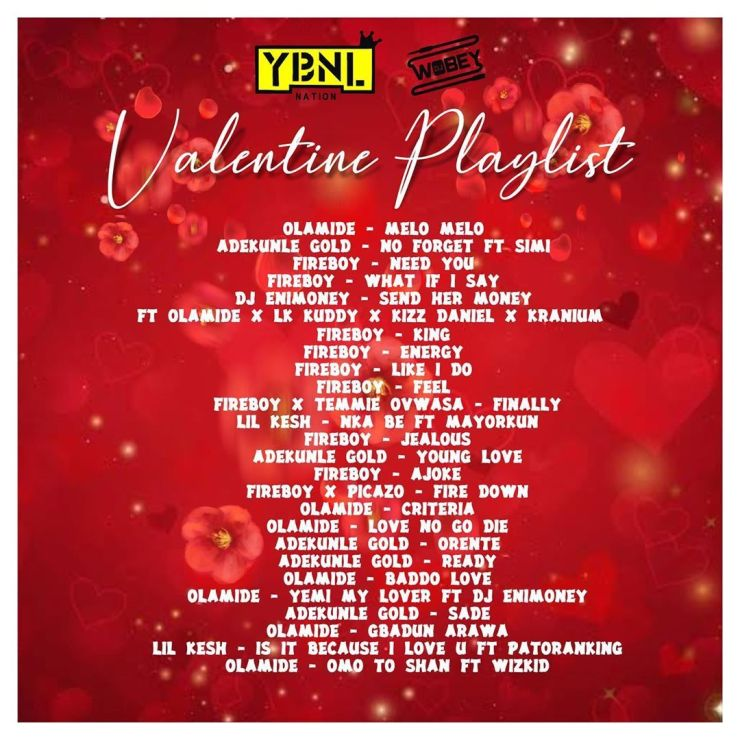 DJ Enimoney – YBNL Valentine's Playlist Mix