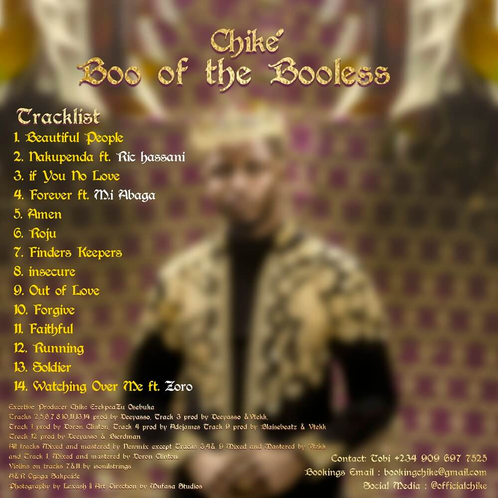 DOWNLOAD Chike – Boo Of The Booless (Album)