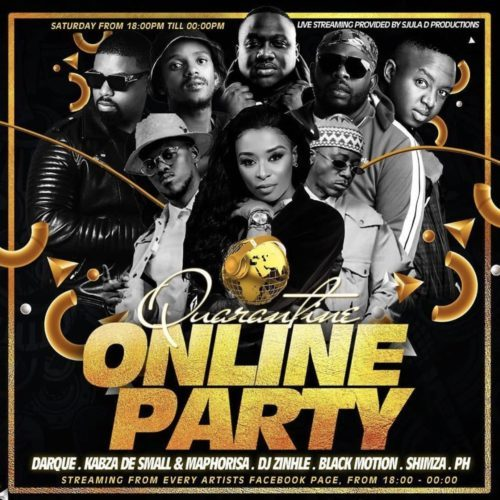 SA Quarantine Online Party Pt. 2 Ft. DJ Zinhle, Shimza & Black Motion