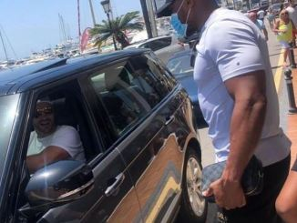 How Anthony Joshua Met Tyson Fury While On Break In Marbella (Photo)
