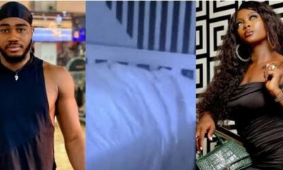 How #BBNaija Housemates Ka3na And Praise Spotted Having S*x At Night | WATCH VIDEO