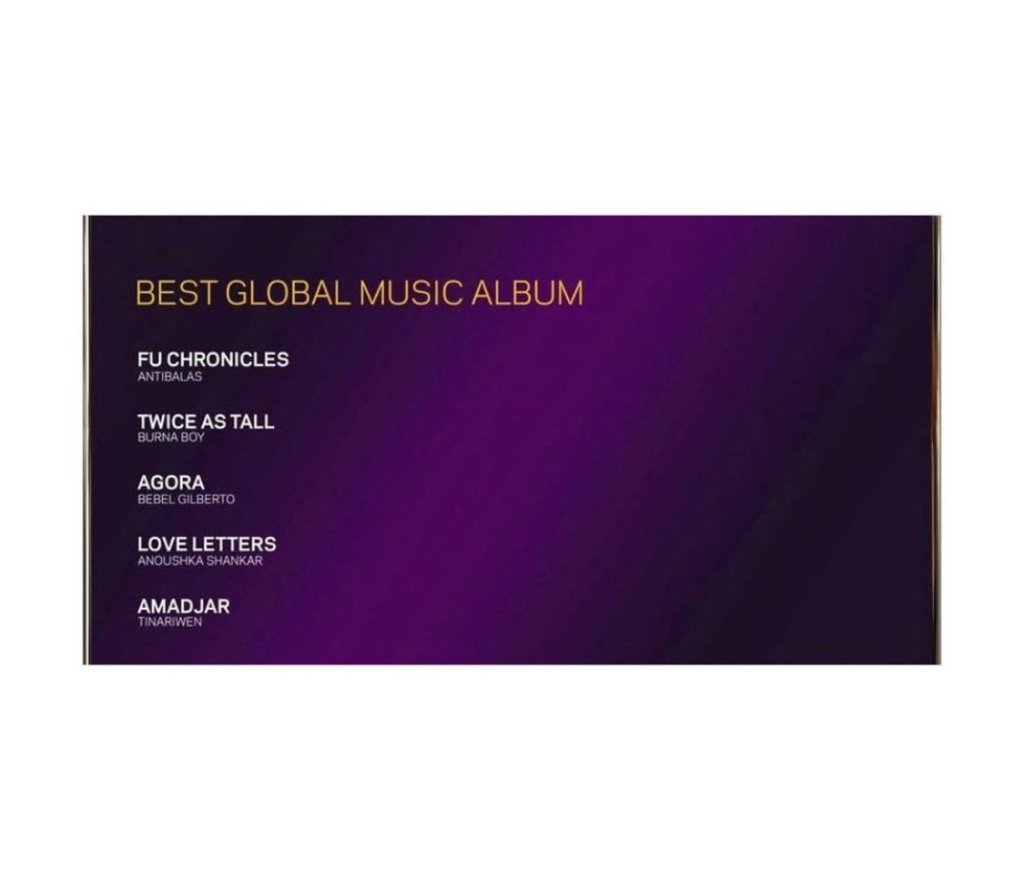 "Burna Boy Gets Second Grammy Award Nomination For ""Twice A Tall"""