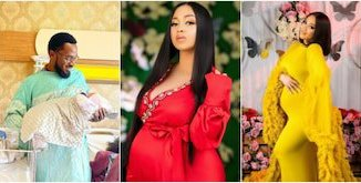 D'banj welcomes daughter with wife, showers encomium on new mum as he lights up social media with lovable photos