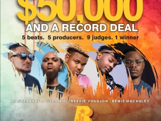 Win $50,000 And A Record Deal by Downloading Beat By Masterkraft, Rexxie, Youngjonn, Ozedikus and Benie