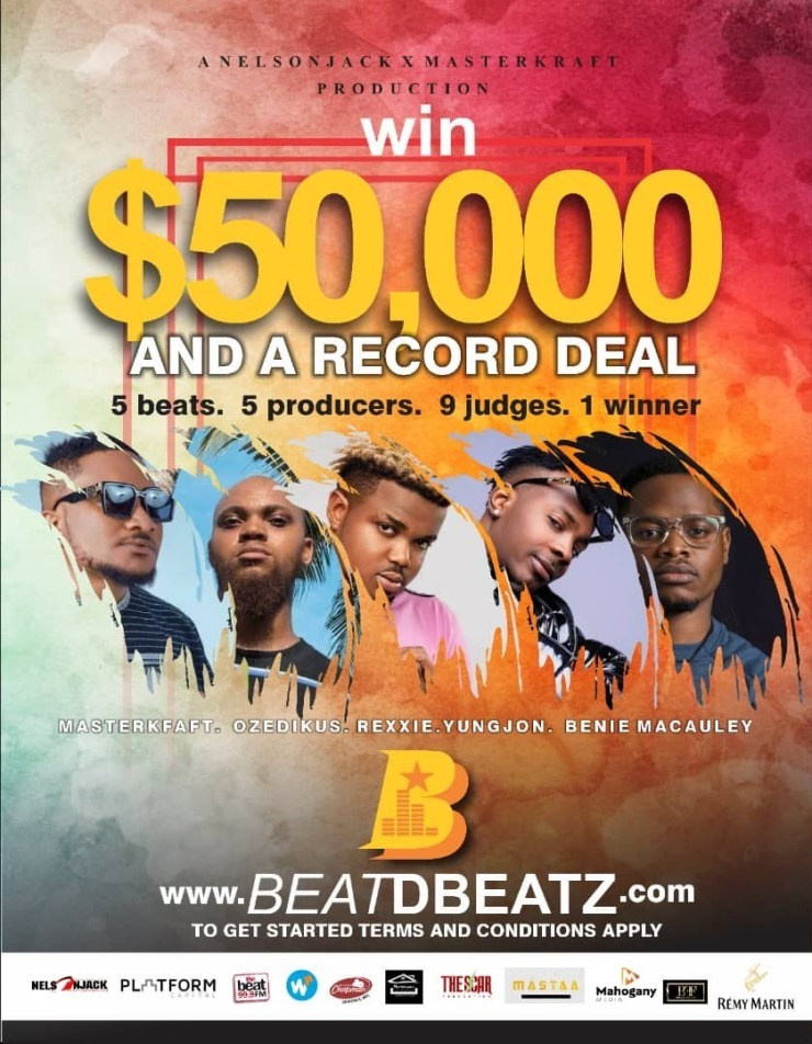 Win ,000 And A Record Deal by Downloading Beat By Masterkraft, Rexxie, Youngjonn, Ozedikus and Benie