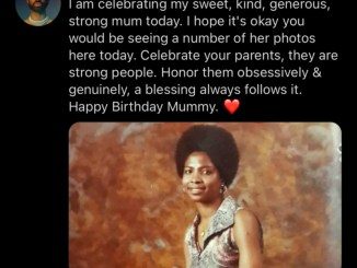 """Celebrate Your Parents, They Are Strong People""-Ric Hassani Says as His Mum Turns 68"