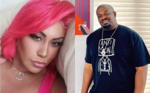 Don Jazzy's Ex-wife, Michelle Talks About The Height Difference In Their Wedding Photos