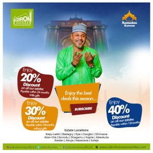 Enjoy The Best Deal this Ramadan With Adron Homes