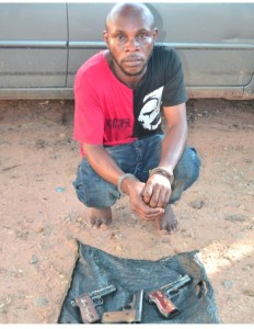 Notorious Armed Robber Arrested With 3 Pistols At Delta Motor Park (Photo)