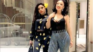 Bobrisky and Tonto Dikeh thrown of an event by bouncers in Dubai (Video)