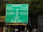 Copyright © Sherley J. Edinbarough (Surely, Sherley and/or SurelySherley), 2014. Road sign placed at Tamil Nadu, India.