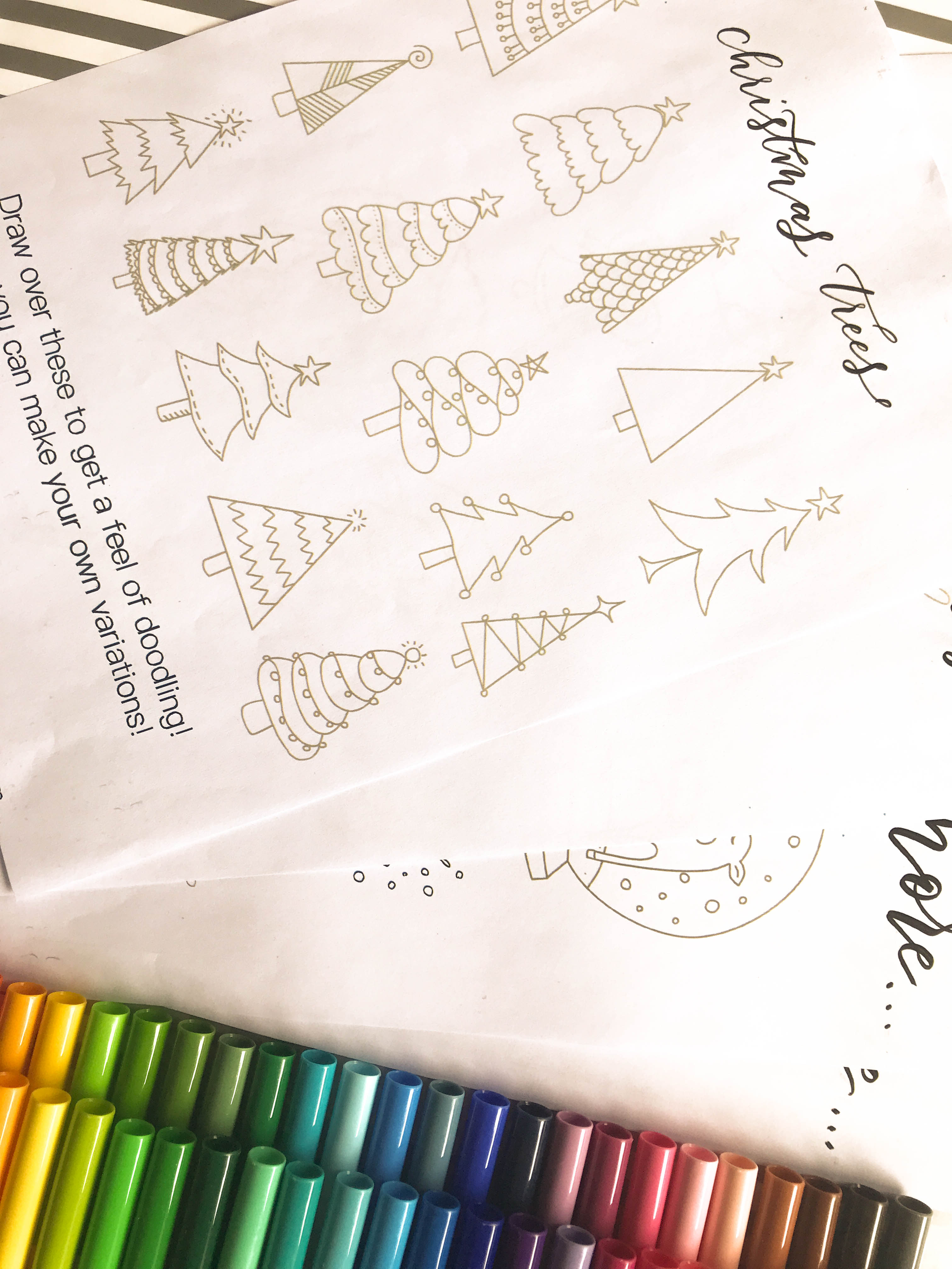 Five Holiday T Ideas With Mixbook Free Christmas Doodles Worksheet Surely Simple