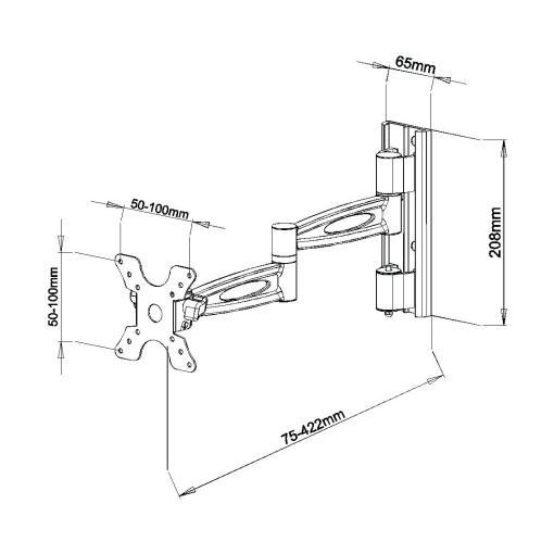 """15""""-24"""" Lockable Cantilever Bracket (SCL01L) 2"""