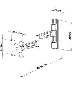 """15""""-24"""" Lockable Cantilever Bracket (SCL01L) 3"""