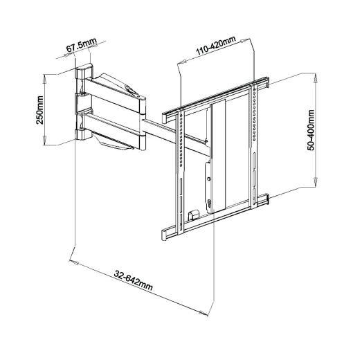 """32""""-55"""" Slimline Cantilever TV Bracket (SCLSS01) 2"""